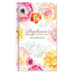 Pretty Posy Personalized Lifetime Address Book