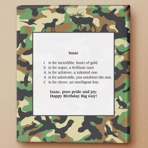 Hunting Name Poem Canvas Print