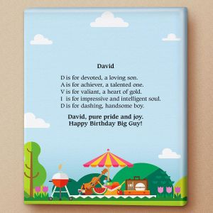 Barbeque Name Poem Canvas Print