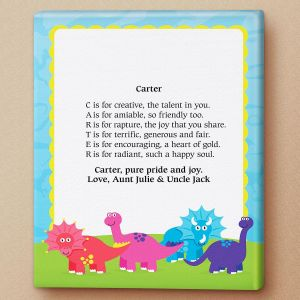 Dinosaur Name Poem Canvas Print
