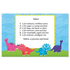 Dinosaur Name Poem Placemat