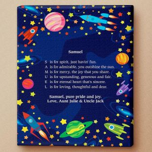Space Name Poem Canvas Print