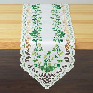 Irish Shamrocks Table Runner