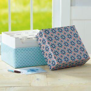 Mosaic Greeting Card Organizer Box