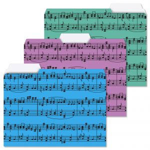 Music Notes File Folders
