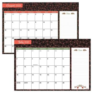 Pretty Planning 2017/2018 Calendar Pad