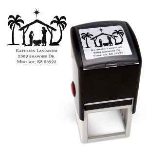 Nativity Square Stamp