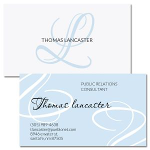 Initial Double-Sided Business Cards