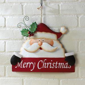 Merry Christmas Santa Metal Sign
