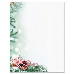 Crystal Pineboughs Christmas Letter Paper