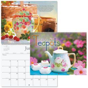 2018 Teapots Wall Calendar