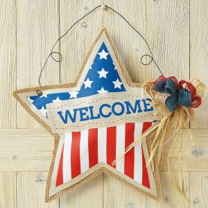 Patriotic Star Door Decoration