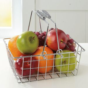 Chrome Handle Basket