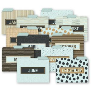 12 Month Variety Pack File Folders