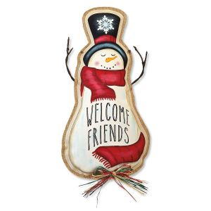 Welcome Friends Snowman Decoration
