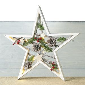 Natural Lighted Star Decoration