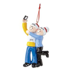 Selfie Family Personalized Christmas Ornaments