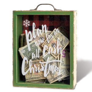 Wooden Christmas Fund Bank