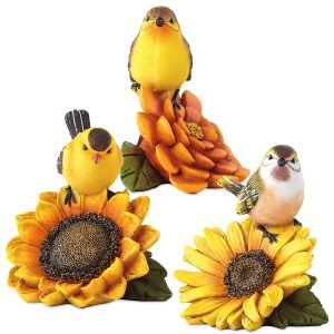 Bird and Flower Figurines