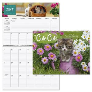 2019 Cats Big Grid Planning Calendar