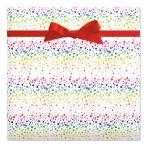 Confetti Birthday  Jumbo Rolled Gift Wrap