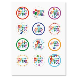 Happy Birthday Envelope Seals - Buy 1 Get 1 Free