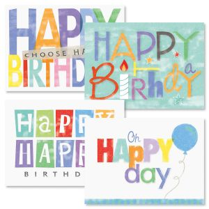 Oh Happy Day Birthday Greeting Cards and Seals