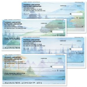 Painted Landscapes Personal Checks