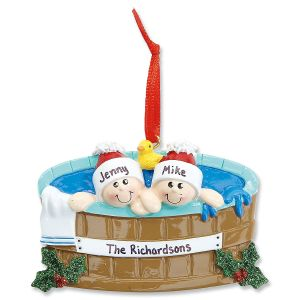 Hot Tub Family Personalized Christmas Ornaments