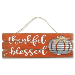 Thankful Blessed Sign