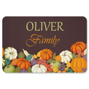 Autumn Welcome Personalized Thanksgiving Doormat
