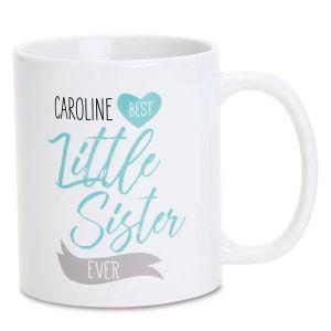 Personalized Little Sister Mug