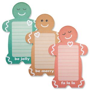 Gingerbread Men Notepads - Buy 1, Get 1 Free