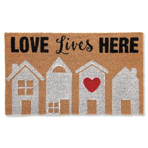 Love Lives Here Doormat