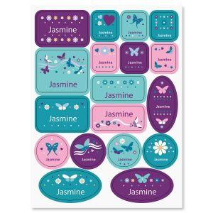 Butterflies and Flowers Custom Stickers for Kids