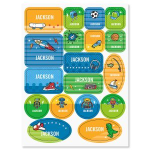 Custom Sports, Space, & Dinos Stickers for Kids