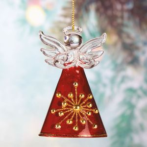 Red and Gold Glass Angel