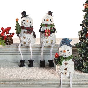 3 Snowmen Shelf Sitters