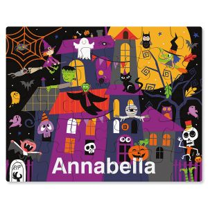 Custom Haunted House Halloween Puzzle