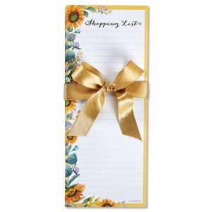 Sunflower Lined List Pads - Buy 1 Get 1 Free