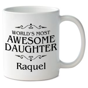 World's Most Awesome Daughter Novelty Mug