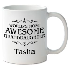 World's Most Awesome Granddaughter Novelty Mug
