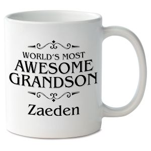 World's Most Awesome Grandson Novelty Mug