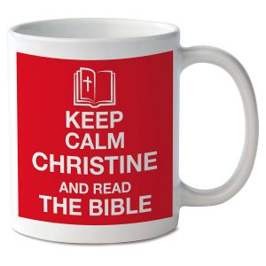 Keep Calm and Read the Bible Novelty Mug