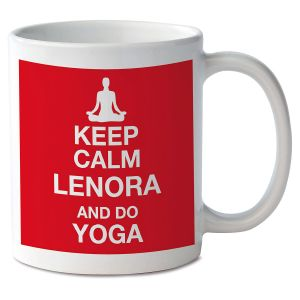 Keep Calm and Do Yoga Novelty Mug
