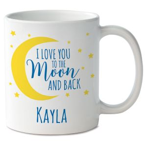 Love You to the Moon Novelty Mug