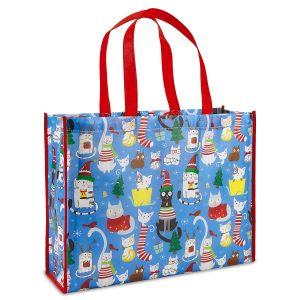 Christmas Cats Shopping Bag