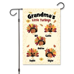 Grandma's Turkeys Garden Flag