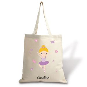 Blonde Ballerina Canvas Tote