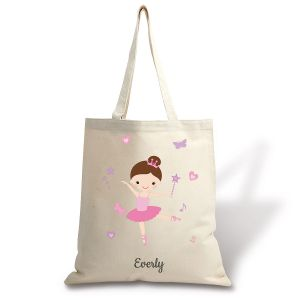 Brunette Ballerina Canvas Tote